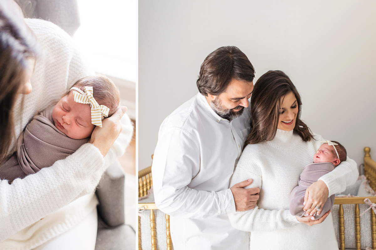 plano newborn photographer taking light and bright in home lifestyle portraits